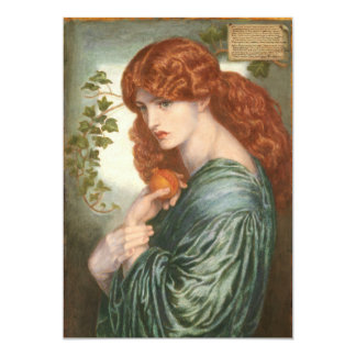 "Proserpine de Dante Gabriel Rossetti Invitación 5"" X 7"""