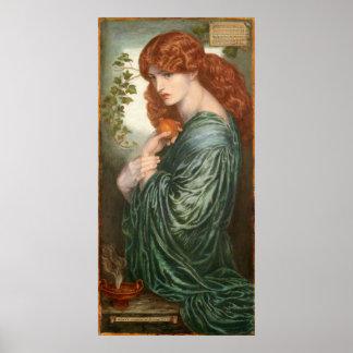 Proserpine de Dante Gabriel Rossetti Poster
