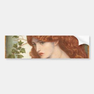 Proserpine de Dante Gabriel Rossetti Pegatina Para Auto