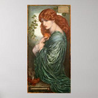 Proserpine de Dante Gabriel Rossetti, pequeño Impresiones