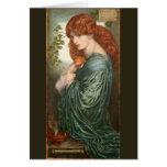 Proserpine de Dante Gabriel Rossetti Tarjeta De Felicitación