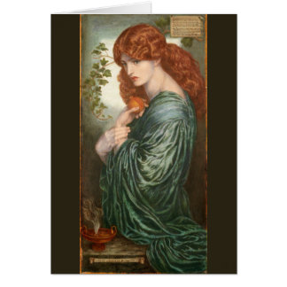Proserpine de Dante Gabriel Rossetti Tarjeta Pequeña