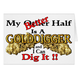 Prospección del oro tarjeta de felicitación