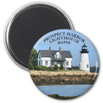Prospect Harbor Lighthouse, Maine Round Magnet
