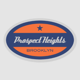 Prospect Heights Oval Sticker