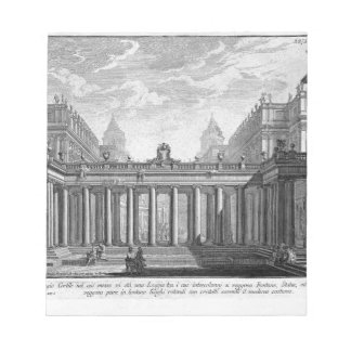 Prospect of a royal courtyard with a loggia notepad