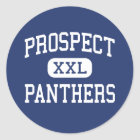 Prospect - Panthers - High - Saratoga California Classic Round Sticker