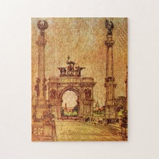 Prospect Park Arch New York City Vintage Jigsaw Puzzle