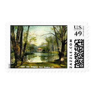 Prospect Park, Brooklyn NY, 1908 Vintage Postage Stamp