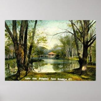 Prospect Park, Brooklyn NY, 1908 Vintage print