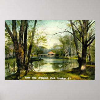 Prospect Park, Brooklyn NY, 1908 Vintage Poster