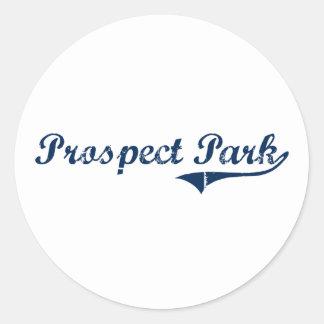 Prospect Park Pennsylvania Classic Design Classic Round Sticker