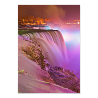 Prospect Point Night View of Niagara Falls Winter Card