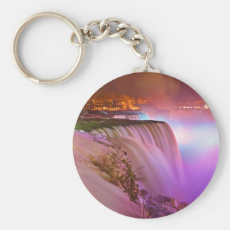 Prospect Point Night View of Niagara Falls Winter Keychain