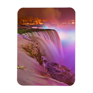Prospect Point Night View of Niagara Falls Winter Magnet