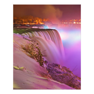 Prospect Point Night View of Niagara Falls Winter Photo Print