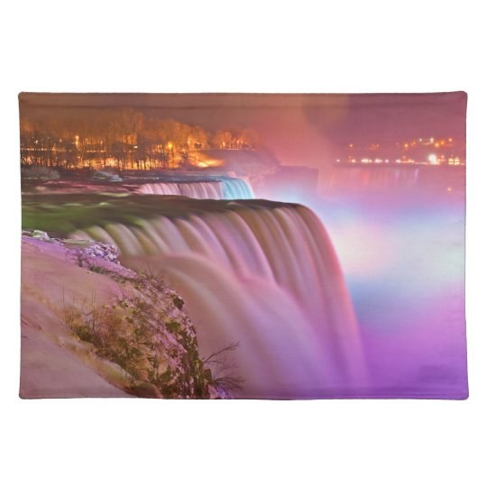 Prospect Point Night View of Niagara Falls Winter Placemat