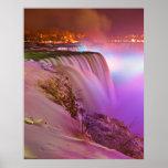 Prospect Point Night View of Niagara Falls Winter Print
