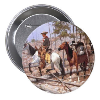 Prospecting for Cattle Range 3 Inch Round Button