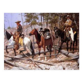 Prospecting for Cattle Range Postcard