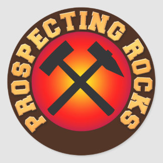Prospecting Rocks Classic Round Sticker