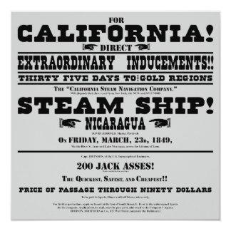 """Prospecto de la fiebre del oro de California Invitación 5.25"""" X 5.25"""""""