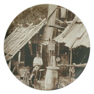 Prospector australiano, c.1880s (foto de la sepia) platos