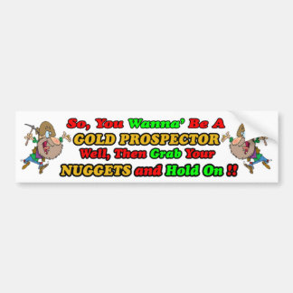 Prospector Bumpersticker del oro Pegatina Para Auto