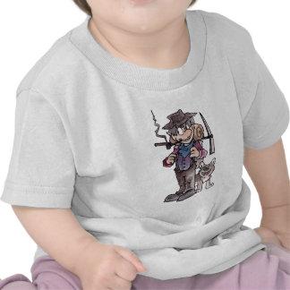 Prospector con el perro camiseta