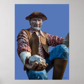 Prospector Statue, Washoe Valley Poster
