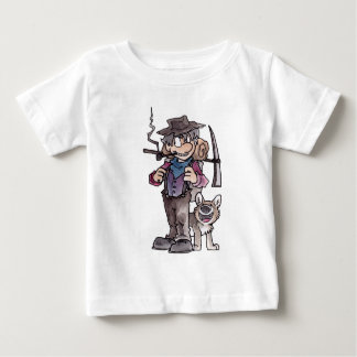 Prospector with Dog Baby T-Shirt