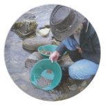 Prospectors Gold Panning Mug Dinner Plates