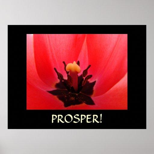 ¡PROSPERE! Arte de motivación de los regalos de la Póster