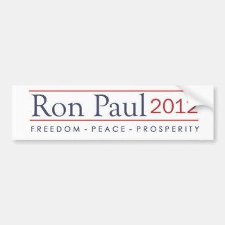 Prosperidad 2012 de la paz de la libertad de Ron P Pegatina Para Auto