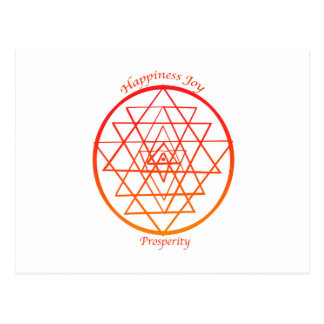 Prosperidad de Sri Yantra Tarjeta Postal