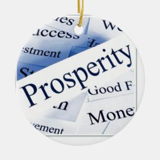 Prosperidad Adorno Redondo De Cerámica