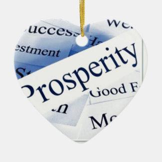 Prosperidad Adorno De Cerámica En Forma De Corazón