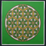 "Prosperity10 Cloth Napkin<br><div class=""desc"">The flower of Life is used in all religions. It is considered sacred with healing energy within the symbol. Use for your crystal grids, sacred altars and for your personal use. Use your intuition to use the design for your particular intention or prayer. This design was created to use for...</div>"