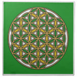Prosperity10 Cloth Napkin<br><div class='desc'>The flower of Life is used in all religions. It is considered sacred with healing energy within the symbol. Use for your crystal grids, sacred altars and for your personal use. Use your intuition to use the design for your particular intention or prayer. This design was created to use for...</div>