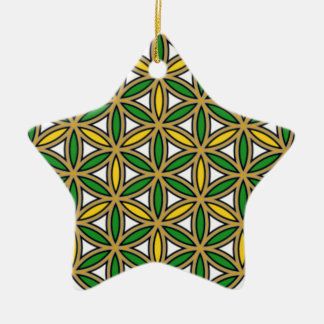 Prosperity10 Double-Sided Star Ceramic Christmas Ornament