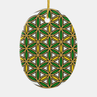 Prosperity10 Double-Sided Oval Ceramic Christmas Ornament