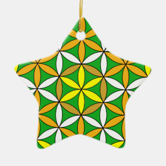 Prosperity3 Double-Sided Star Ceramic Christmas Ornament