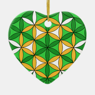 Prosperity4 Double-Sided Heart Ceramic Christmas Ornament