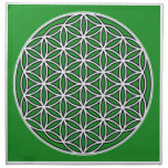prosperity5 cloth napkin<br><div class='desc'>The flower of Life is used in all religions. It is considered sacred with healing energy within the symbol. Use for your crystal grids, sacred altars and for your personal use. Use your intuition to use the design for your particular intention or prayer. This design was created to use for...</div>