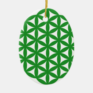 Prosperity7 Double-Sided Oval Ceramic Christmas Ornament