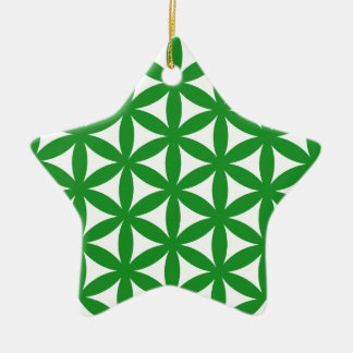 Prosperity7 Double-Sided Star Ceramic Christmas Ornament