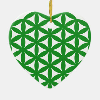 Prosperity7 Double-Sided Heart Ceramic Christmas Ornament