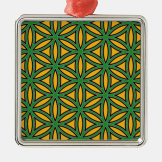 Prosperity8 Square Metal Christmas Ornament