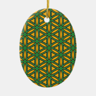 Prosperity8 Double-Sided Oval Ceramic Christmas Ornament