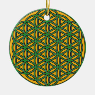 Prosperity8 Double-Sided Ceramic Round Christmas Ornament